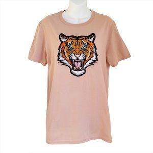 Capsule Kobenhavn Tiger Embroidery T-shirt Top
